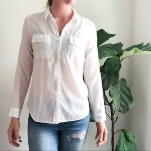 Express white button up blouse